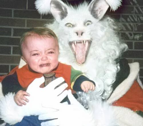 creepy easter bunny photo, funny and creepy easter bunny photo. Imgur, Happy Easter: Creepy easter bunny put children in fear and terror