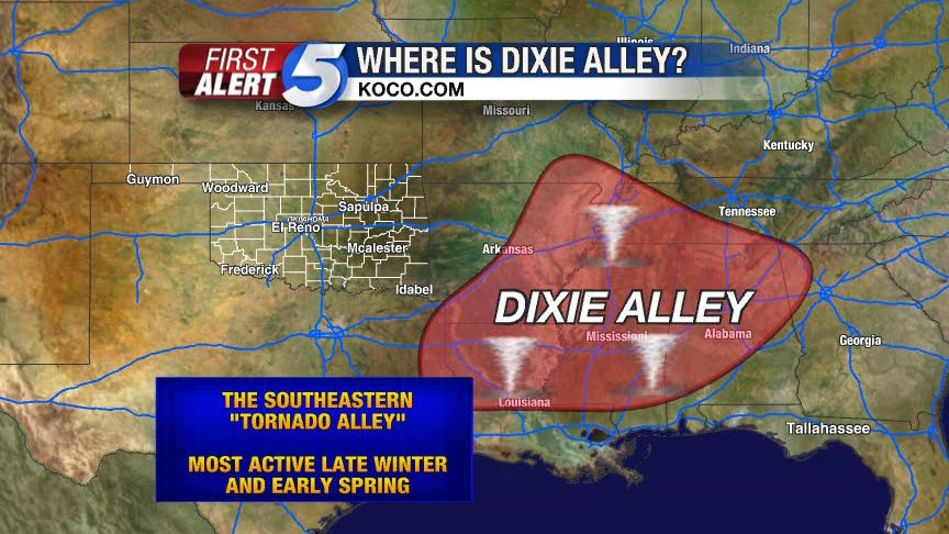dixie alley map, where is the dixie alley, map of dixie alley, tornado map usa, tornado alley map