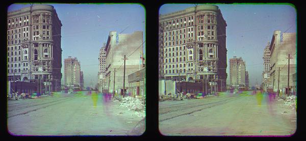 First color photos of 1906 San Francisco earthquake. Photo: Frederick Eugene Ives, photo 1906 SF earthquake color pictures, color photographs of 1906 San Francisco earthquake aftermath