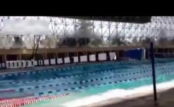 pool tsunami, pool tsunami video, pool tsunami video mexico, tsunami in pool during earthquake in Mexico