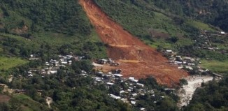 landslide in Mexico, the village of La Pintada was engulfed by a huge landslide in september 2013. Photo: Reuters, la Pintada landslide, killer landslide in Mexico,