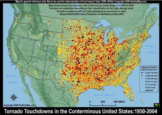 tornado hazard map usa,tornado alley map, dixie alley map, tornado and dixie alleys map, map of tornado alleys in USA, where are US tornado alley