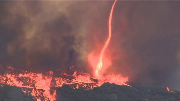 san diego county wildfires may 2014, wild fires, wild fire california, wild fire california san diego county may 2014 photo, may 2014 wildfires california, may 2014 wildfires california photo, photo of california wildfires in may 2014, california san diego county wildfires may 2014, firenado, fire tornado ca may 2014, firenado san diego county may 2014, san diego county wildfires, Firenado during San Diego County wildfires - May 15 2014, Fire tornado during San Diego County wildfires in California - May 15 2014. Photo: ROES