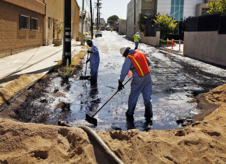Atwater village oil spill and geyser may 2014. Photo: Video, Atwater Village oil spill, Atwater Village oil geyser after pipeline break, oil spill and geyser at Atwater Village may 2014, oil spill and oil geyser in Atwater Village downtown LA may 2014, Pipeline explosion creates oil geyser in downtown Los Angeles, oil geyser Oil Geyser Sickens Workers and Floods Streets of downtown LA, LA oil geyser may 2014, oil spill downtown LA may 14 2014, oil geyser downtown LA may 14 2014, pipeline brake creates oil geyser in downtown la may 14 2014, downtown LA oil spill and geyser may 14 2014 video, la oil geyser ma 2014, la oil spill and geyser may 2014, oil geyser after pipeline break in downtown LA, A pipeline explosion creates an oil geyser in downtown Los Angeles on May 15, 2014.