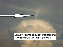 unknown weather phenomenon: tornado forms over T-storm: T-cloud tornado, T-storm tornado, tornado on thunderstorm cloud, can tornado form above thunderstorm clouds, twister forms over thunderstorm clouds, Tornado-Like Beam Spinning On The TOP Of A T-Storm, tornado forms over thunderstorm cloud, unknown weather phenomenon: tornado forms over T-storm, what is this crazy tornado-like phenomenon on top of a T-storm, tornado on thunderstorm cloud, unknown weather phenomenon: tornado on T-storm cloud, twister form on thunderstorm cloud, strange weather phenomenon: tornado on thundercloud, Tornado-like phenomenon on top of a T-storm. Photo: Youtube video, Tornado-like phenomenon on top of a T-storm. Photo: Youtube video by Marc Weinberg