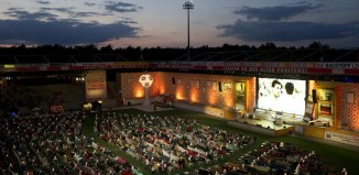 Berlin's Alten Forsterei stadium has been transformed into a giant living room for Brazil 2014, Alten Foersterei Stadium