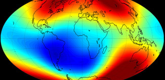 swarm reveals earth changing magnetism, earth magnetism is changing, earth magnetism is weakening, are earth poles about to flip, earth magnetic poles flip, catastrophism: are earth poles about to flip, june 2014: earth electromagnetism is getting weaker, Earth's Electromagnetic Field Is Weakening, Weakening magnetic field, earth's magnetic field is weakening, weaker earth magnetic field, The Magnetic field strength across the planet June 2014. Photo: EST/ DTU, The first set of high-resolution results from ESA's three-satellite Swarm constellation reveals the most recent changes in the magnetic field that protects our planet, Earth's magnetic field, Earth's magnetic field change, weaker Earth's magnetic field, The Earth's magnetic field which protects us from radiation from space is getting weaker, space radiation protection weaker,