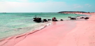 Pink beach, Pink beach photo, pink sand, pink sand photo, pink beach around the world, amazing nature phenomenon: pink beach around the world, amazing natural phenomenon: pink beaches around the world, earth oddity: pink beach, earth strange things: pink beach, where can i find pink beaches in the world, what is the location of pink beach around the world, where are pink beaches around the world?, amazing nature oddity: pink beach around the world, Pink beach and sand on Elafonissi beach in Crete (Greece). Photo by Jan-Erik Larsson