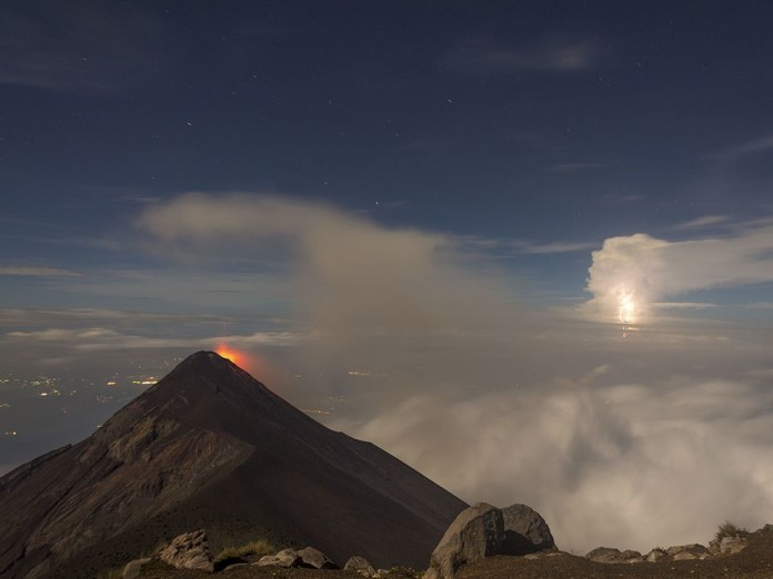 best volcanic eruption photo: lightning and lava during Acatenango volcano eruption in June 17 2014, best volcano eruption photo june 2014: guatemala's Acatenango volcano lava and lightning, Thunders and Explosions at Acatenango photo, nature phenomenon photo: Thunders and Explosions at Acatenango in Guatemala, best volcanic eruption photo: Thunders and Explosions at Acatenango in Guatemala, photo of Acatenango volcano guatemala, lightning and volcanic eruption at Acatenango volcano in Guatemala, best volcanic eruption photo june 2014: lightning and lava at Acatenango volcanic eruption on June 18 2014, volcanic eruption Acatenango photo june 2014, middle earth photo Acatenango volcano june 2014, ever visited middle earth?, this is middle earth, Amazing nature photography: Thunders and Explosions at Acatenango volcano in Guatemala. Photo by Diego Fabriccio Diaz Palomo