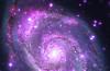 Whirlpool Galaxy, Whirlpool Galaxy photo, Whirlpool Galaxy oddity, Whirlpool Galaxy mystery, Whirlpool Galaxy is full of Black Holes, Whirlpool Galaxy is Dotted with Black Holes, space oddity, space anomaly: Whirlpool Galaxy is Dotted with Black Holes, Space mystery: Why is the Whirlpool galaxy dotted with black holes?Photo: The Whirlpool galaxy seen in both optical (red, green and blue) and X-ray (purple) light. Image Credit: X-ray: NASA/CXC/Wesleyan Univ./R.Kilgard, et al; Optical: NASA/STScI