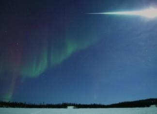 amazing fireball Yellowknife Canada