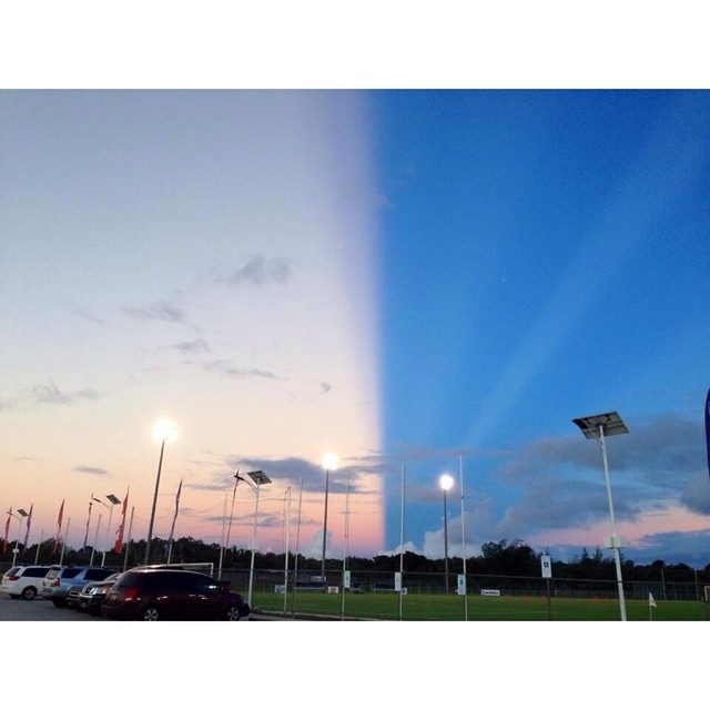 amazing sky phenomenon over Guam Anticrepuscular rays cut the sky in two, best anticrepuscular ray photo, most incredible anticrepuscular ray photo, amazing picture of anticrepuscular ray on Guam, ska of guam cut in two by anticrepuscular rays june 2014, anticrepuscular rays cut sky in two in Guam, guam sky cut in two by anticrepuscular ray june 2014, amazing sky phenomenon: anticrepuscular ray, best anticrepuscular ray photo june 2014 guam, The sky over Guam was caught in two by an incredible sky phenomenon called anticrepuscular ray. Photo: Reddit