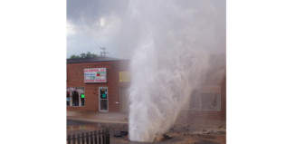 Water Main Break Sends Gallons Gushing Into Air, geyser, geyser aurora, geyser aurora june 2014, water main break, water main break auror june 2014, sinkhole, sinkhole june 2014, sinkhole aurora june 2014, This amazing geyser erupted from a stree in Aurora after a water main break created a sinkhole on June 26 2014. Photo: Martha Diera, A water main break sent thousands of gallons of water through the pavement and into the air in Aurora Thursday afternoon, amazing geyser in Aurora june 2014, geyser erupts in aurora after water main break, water main break creates sinkhole and geyser in aurora, geyser eruption aurora june 2014, water main break geyser eruption june 2014 aurora, water main break geyser aurora june 2014, strange geyser eruption in aurora june 2014