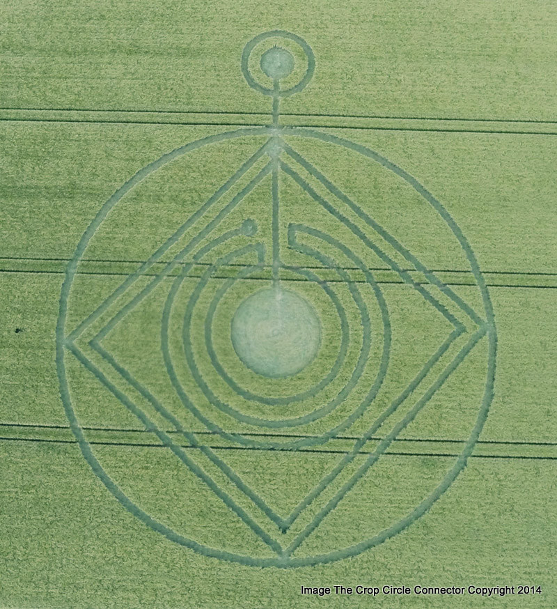 crop circle, new crop circle june 2014, New crop circle reported at Hod Hill june 2014, crop circle  Hanford june 2014, new crop circle Dorset june 2014, crop circle june 2014 photo, crop circle june 2014 video, Crop Circle 2014 Hod Hill, Hanford, Dorset, New crop circle reported at Hod Hill in Dorset - June 1 2014. Photo:  The Crop Circle Connector