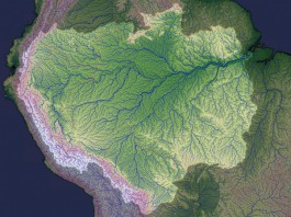 amazon river, amazon river study july 2014, amazon flow july 2014 study, amazon river flow, flow of amazon reverse, flow reversal of amazon river, geological oddity: how amazon river flow reversed suddenly, scientists explain how amazon river reversed, The Amazon once flowed in the opposite direction, Why the Amazon flows backward, Why the Amazon flows backward? A river runs backward. Erosion and other processes taking place at Earth's surface help explain why large portions of the Amazon River (watershed depicted in lighter colors) reversed course. IMAGE: JESSE ALLEN/NASA
