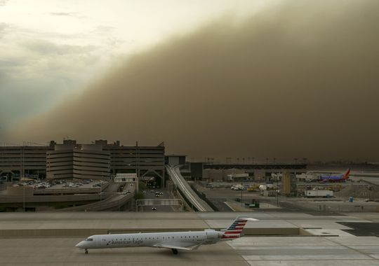 haboob, dust storm, us haboob july 2014, haboob phoenix july 2014, dust storm phoenix july 2014 photo and video, haboob phoenix july 25 2014, dust storm phoenix july 2014, dust storm phoenix july 25 2014, massive dust storm phoenix july 2014 video, photo haboob phoenix july 2014, phoenix haboob dust storm july 2014, dust storm video july 2014, us haboob july 2014, phoenix haboob photo, phoenix dust storm photo video july 2014, dust storm, sand storm, haboob, phoenix, july 2014, video, photo, The massive dust storm closed down the international airport for a few hours. Photo: David Wallace/The Republic