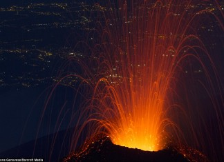 Mount Etna, etna, Mount Etna volcano, Mount Etna eruption, Mount Etna first eruption 2014, Mount Etna first eruption photo july 2014, etna volcano eruption photo july 2014, first etna volcano eruption july 2014 photo, photo of Mount Etna first volcanic eruption july 2014, Mount Etna eruption photo: The volcano eurption has started last sunday on Sicily.
