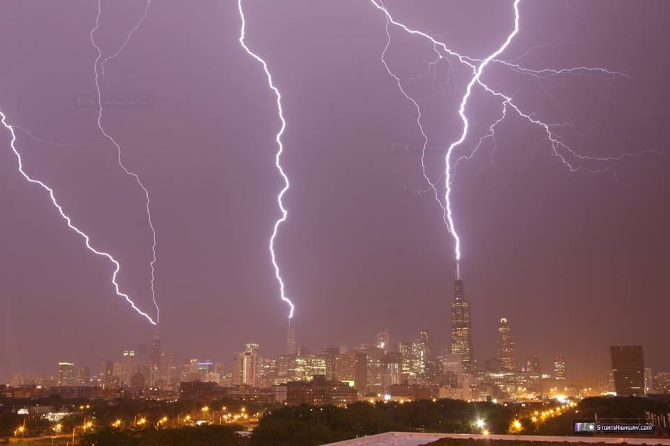 simultaneous triple lightning hit on Willis (Sears) Hancock and Trump Towers photo, simultaneous triple lightning hit on Willis (Sears) Hancock and Trump Towers photo june 30 2014, lightning willis tower, lightning sears tower, willis tower hit by lightning june 30 2014, The Willis (Sears) Tower in Chcago was struck by three lightnings in a row on June 30 2014. Photo Getty Images, lightning willis tower photo, lightning sears tower photo, lightning willis tower video, lightning sears tower video, , lightning willis tower photo june 30 2014, lightning sears tower photo june 30 2014, lightning willis tower video june 30 2014, lightning sears tower video june 30 2014, Incredible yet ominous picture coming out of Chicago tonight! Stormhighway.com reports a simultaneous triple lightning hit on Willis (Sears), Hancock and Trump Towers... and just shared this picture. WOW!