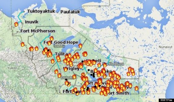This map shows about 100 fires devastating the region of the NWT in Canada july 2014, North West Territories, North West Territories Fire, North West Territories Fire Photos, North West Territories Fires, North West Territories Fires Photos, Northwest Territories, Northwest Territories Fire, Northwest Territories Fire Photos, Northwest Territories Fires, Northwest Territories Fires Photos, Nwt Fire Photos, Nwt Fires, Nwt Fires Photos, Canada News