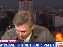 CNN Martin Savidge gaza explosion live, gaza live explosion, Rocket Explodes Next to CNN Crew's Hotel in GAza. Reporter Martin Savidge Dives to the Floor during this Bomb Explosion on TV Live. Wow!, CNN Martin Savidge, CNN Martin Savidge Gaza live bomb explosion, live bomb explosion gaza CNN