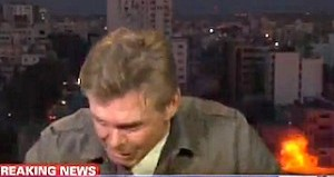 CNN Martin Savidge gaza explosion live, gaza live explosion, Rocket Explodes Next to CNN Crew's Hotel in GAza. Reporter Martin Savidge Dives to the Floor during this Bomb Explosion on TV Live. Wow!, CNN Martin Savidge, CNN Martin Savidge Gaza live bomb explosion, live bomb explosion gaza CNN