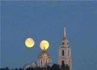 Double moon hoax, Double moon hoax debunked, Double moon hoax photo, double moon, mars same size as moon on August 27 2014, Double moon hoax on August 27,