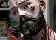 Jesus Christ statue with human teeth, Jesus Christ statue with human teeth, video, jesus human teeth, jesus statue human teeth, real human teeth found in Christ statue, christ statue with real human teeth, Real teeth have been found in this weird and bloody Jesus Christ statue in Mexico. Photo: Youtube video