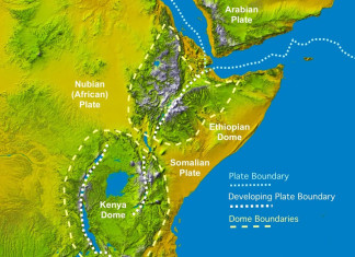 "rift vally mystery, why rift valley widens, amazing rift valley soon an ocean, The rift valley, Great Rift Valley, East African rift., The African rift valley is one of the most fascinating natural wonders, known for its unique biodiversity and for being considered -for the important paleoanthropologic discoveries- the ""cradle of mankind"", i.e. the place where our species has evolved and diversified in the last millions of years. Characterized by a system of linear valleys extending for thousands of kilometers, the rift valley is a huge fracture on the surface of our planet that progressively widens with time, tearing the eastern portion of the African continent apart. It represents a geological wonder where volcanism, earthquakes and fracturing of the Earth's crust are the surface expressions of the enormous forces that shape our planet. Photo: Geology.com"