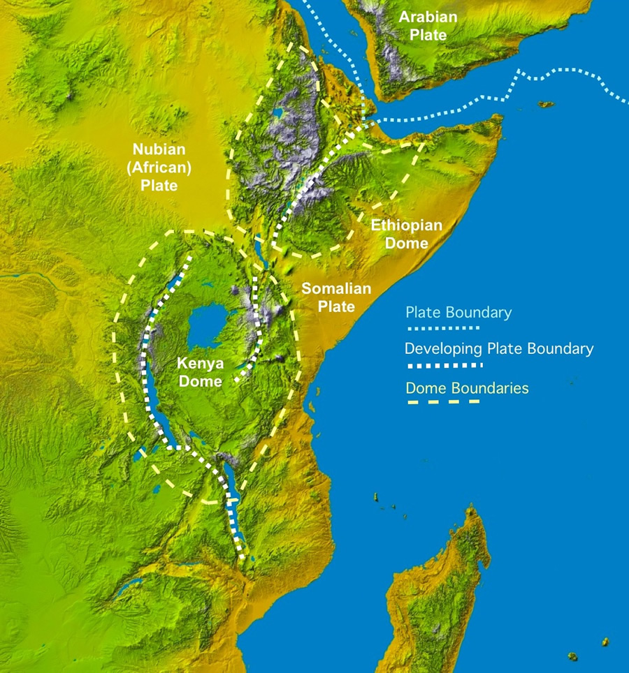 """rift vally mystery, why rift valley widens, amazing rift valley soon an ocean, The rift valley, Great Rift Valley,  East African rift., The African rift valley is one of the most fascinating natural wonders, known for its unique biodiversity and for being considered -for the important paleoanthropologic discoveries- the """"cradle of mankind"""", i.e. the place where our species has evolved and diversified in the last millions of years. Characterized by a system of linear valleys extending for thousands of kilometers, the rift valley is a huge fracture on the surface of our planet that progressively widens with time, tearing the eastern portion of the African continent apart. It represents a geological wonder where volcanism, earthquakes and fracturing of the Earth's crust are the surface expressions of the enormous forces that shape our planet. Photo: Geology.com"""