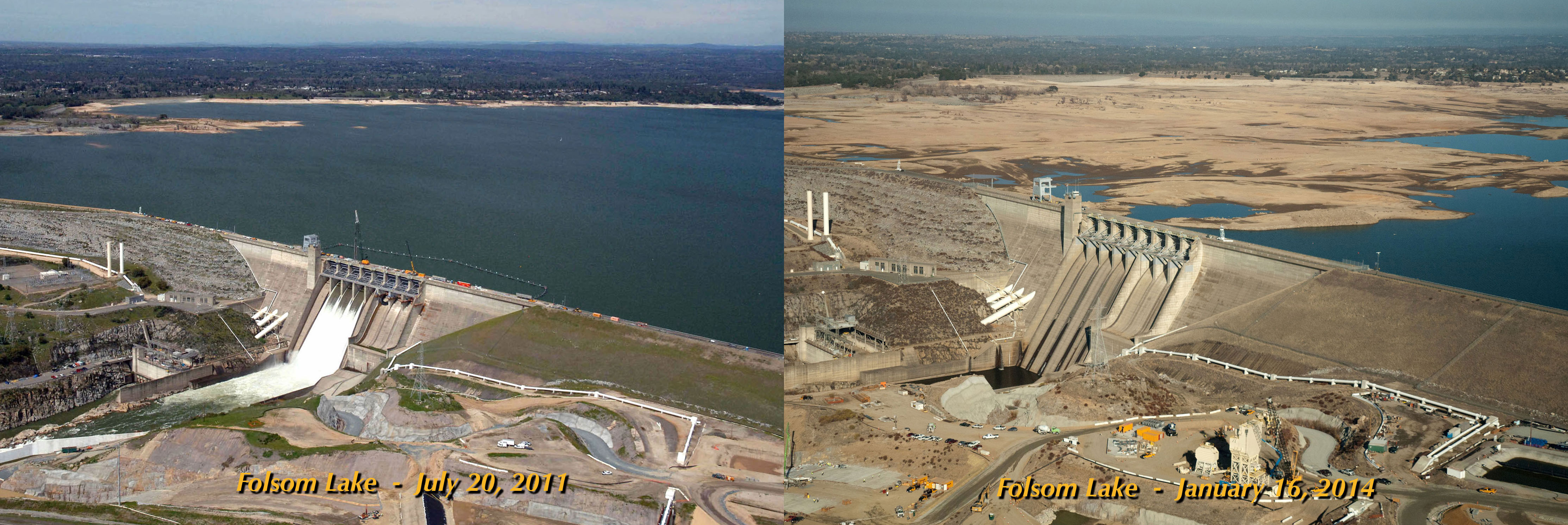 Picture of the Folsom Lake in 2011 and in 2014. The water level difference is terrifying and results from the historic drought in California. Photo: NASA, apocalyptic drought california, terrifying drought california photo, california drought gif, apocalyptic california drought gif, gif of california drought, Severity of California's Terrible Drought in one gif, terrifying california's drought in one image, this gif shows how terrible california drought really is, Gif showing the extend of the historic California's drought of 2014, Terrifying GIF Shows Severity Of California Drought! OMG! This GIF shows How Bad California's Drought Really Is! And It will Blow Your Mind!, california drought, california drought gif, california drought gravity, severity of california drought folsom lake, august 2014, strange sounds