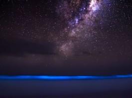 bioluminescence, bioluminescence photo, photo of bioluminescence, milky way and bioluminescence, bioluminescence and glowing milky way, amazing bioluminescence photo, amazing nature phenomena, amazing nature phenomena photo: bioluminescence and milky way, milky way bioluminescence photo, This amazing picture features two amazing nature phenomenon: Bioluminescence glowing into Milky Way... The bioluminescence galactic glow!