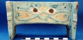 "evil eye box, evil eye box discovered at new underground cemetery discovered in Sudan, amazing archeological discovery: new underground cemetery discovered in Sudan, sudan underground discovery, evil eye box discoeverd in Sudan cemetery, In the Sudan cemetery, researchers found a faience box decorated with large eyes that may have been meant to protect against the ""evil eye."""