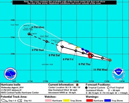 hurricane hawaii, hurricane hawaii 2014, hurricane iselle and julio hawaii 2014, hurricane iselle hawaii, hurricane hawaii, hurricane hawaii iselle, hurricane hawaii august 2014, Hawaii Hurricane Warning: Rare Twin Hurricanes Iselle And Julio Threatens Hawaii. Photo: NOAA
