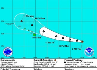 hurricane hawaii, hurricane hawaii 2014, hurricane iselle and julio hawaii 2014, hurricane iselle hawaii, hurricane hawaii, hurricane hawaii iselle, hurricane hawaii august 2014, Hawaii Hurricane Warning: Rare Twin Hurricanes Iselle And Julio Threatens Hawaii. Photo: NOAA, Hurricane emergency hawaii: twin hurricanes will hit Hawaii. Iselle will arrive today followed by Julio tomorrow! Photo: NOAA