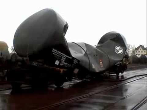 vacuum implosion of railroad tank car, railroad tank car vacuum implosion, railroad tank car implosion, implosion of railroad tank car, This is the result of a railroad tank car implosion: A crunched wagon! Amazing. Photo: Youtube video, amazing video, weird video, strange facts, vacuum, vaccum implosion, vacuum implosion video