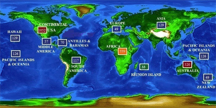 This Map Reports Every Shark Attack Worldwide Since 1580 And There Aren T Nearly As Many As You Might Think