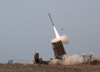 iron dome, iron dome photo, iron dome video, iron dome intercepts 15 rockets in single shot, iron dome israel defence, israel defense force iron dome, iron dome israel photo, Israel Defense Forces: Iron Dome Intercepts Rockets from the Gaza Strip. Photo: Wiki Common