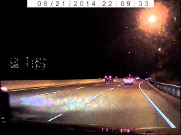 fireball, meteor, toronto fireball, toronto fireball meteor, toronto meteor, toronto fireball august 21 2014, A fireball was caught on a dash cam over Toronto. Nice shot. Photo: Youtube video