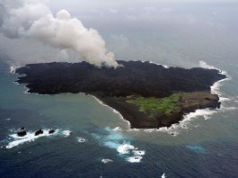 nishinoshima, nishinoshima tsunami, new volcanic island tsunami, nishinoshima tsunami, japan island tsunami, new fear from japan tsunami, An erupting volcanic island that is expanding off Japan could trigger a tsunami if its freshly formed lava slopes collapse into the sea, scientists said on Tuesday, Aug 19, 2014.