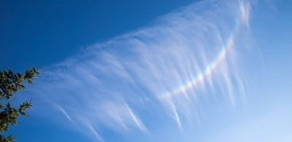 upside-down rainbow, upside-down rainbows, circumzenithal arc, circumzenithal arcs, upside-down rainbow photo, upside-down rainbows photo, circumzenithal arc photo, circumzenithal arcs photo, circumzenithal arcs or upside-down rainbow, circumzenithal arcs or upside-down rainbow photo, This extremely rare atmospheric phenomenon called circumzenithal arcs or upside-down rainbow was spotted over Blackpool, UK, What a cool sight! Upside-down rainbow in the UK. Photo: Ian Brooks