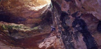 wyoming sinkhole natural trap cave archeological discovery, The entrance of Natural trap cave in Wyoming. Photo: Daily Mail