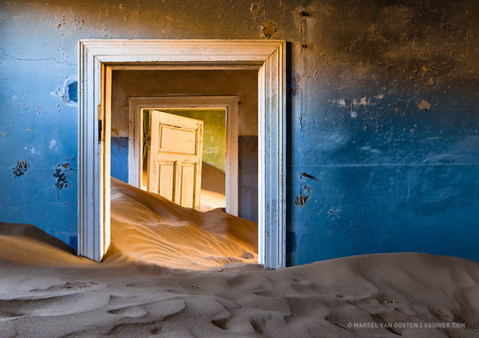 Abandoned Mining Town in Namibia, Abandoned Mining Town in Namibia vovered by sand, sand mining town, sandcovers abandonned mining place in Namibia, abandonned mining town covered by sand in Africa, nature reclaiming abandoned places, nature abandonned places