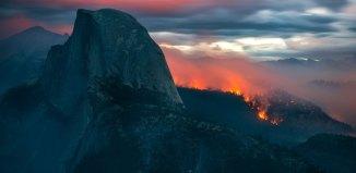 Meadow Fire, meadow wildfire, meadow fire photos, photos of meadow fire, apocalyptic photo of yosemite national park wildfire, Yosemite National Park Wildfire