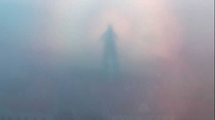The Glory, Spectre of the Brocken, The Glory photo, Spectre of the Brocken photo, The Glory optical illusion, Spectre of the Brocken optical illusion, The glory ghost over Hungarian city, Is this a ghost or a giant hovering a Hungarian city? Eerie glory photographed over the town of Veszprem in Hungary by Ladanyi Tamas