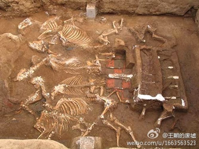 giant tomb complex found in China, china emperor tomb complex, tomb complex china emperor, This is the second largest tomb found in China. It was most probably built by first emperor, Qin Shi Huang, for his grandmother, Two such carriages pulled by six horses were also unearthed. These are symbols of royalty in medieval China., ancient tomb, giant ancient tomb, archeology, china mausoleum, largest china giant tomb, second largest tomb of china uncovered