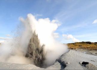 mud geyser, mud geyser erupts in Iceland, mud geyser iceland, iceland mud geyser, erupting mud geyser iceland, This new mud geyser erupted near Gunnuhverin Iceland. Photo: Olgeir Andrésson