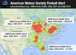fireball, fireball event, us fireball events, four fireballs usa september 2014, four fireballs on september 23 2014, Four Large Fireball Events over USA on September 23, 2014