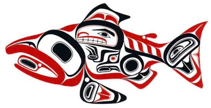 haida guaii archeological discovery, haida guaii art, Haida Dog Salmon -- Skaagi, archeology, usa, canada, haida guaii, queen charlotte island, underwater discovery