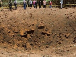 meteor crater nicaragua, meteor crater nicaragua managua, meteor crater managua, meteor crater, meteorite crashes in Nicaragua, meteorite crashes near managua international airport september 2014, Giant crater created by meteorite impact in Managua, Nicaragua on September 7, 2014.