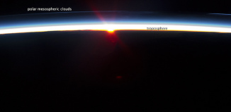polar mesospheric cloud, polar mesospheric clouds, polar mesospheric cloud photo, polar mesospheric clouds image, polar mesospheric clouds from iss, These polar mesospheric clouds were photographed from ISS. When viewed from earth surface they are called noctilucent clouds